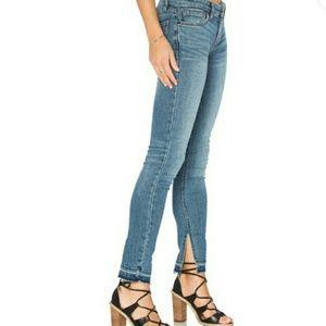 Free People Distressed Raw Hem Side Slit Jeans 30